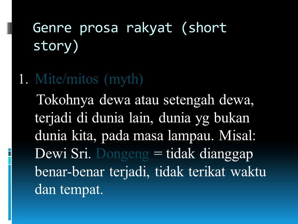 Genre prosa rakyat (short story)