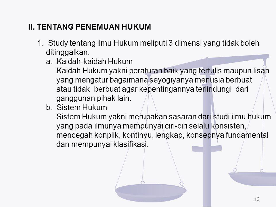 II. TENTANG PENEMUAN HUKUM