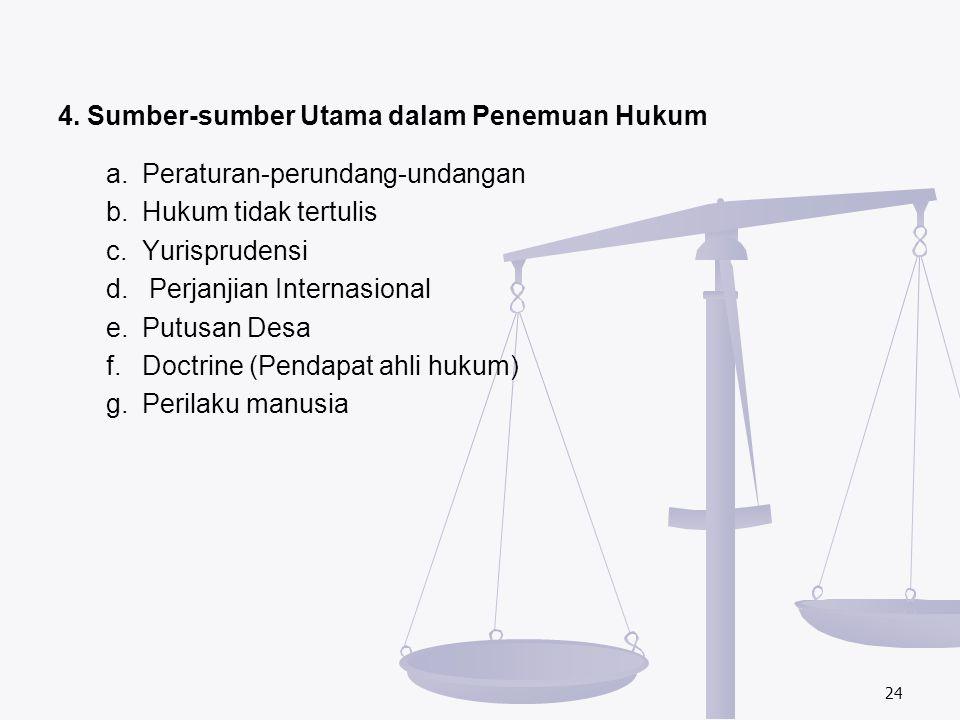 4. Sumber-sumber Utama dalam Penemuan Hukum