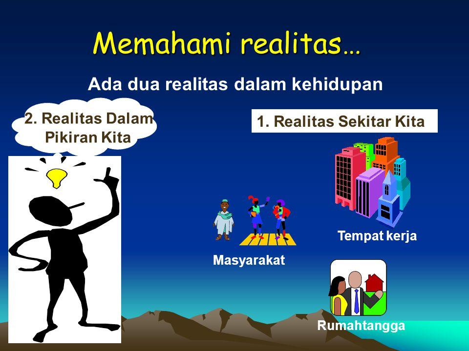 Ada dua realitas dalam kehidupan