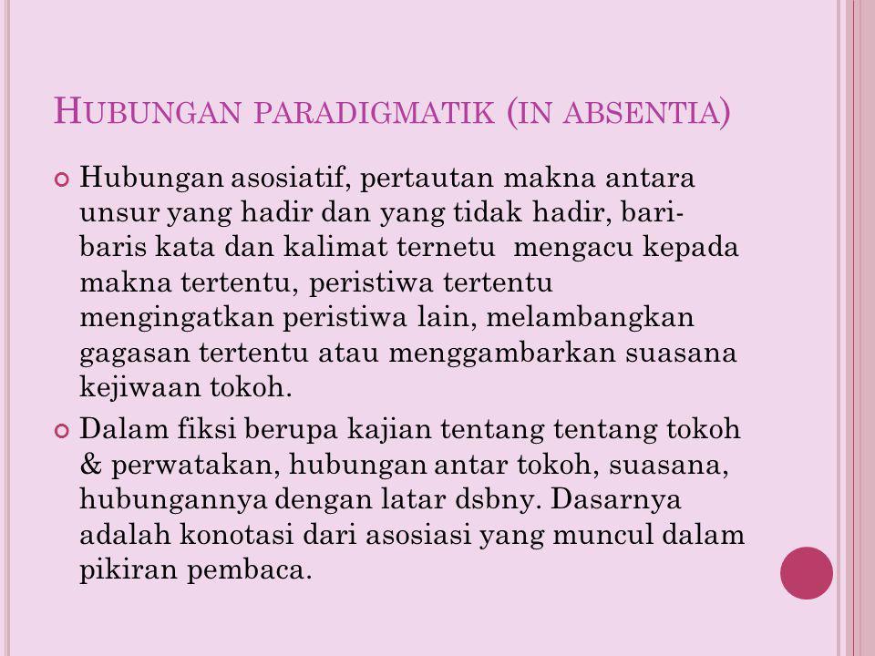 Hubungan paradigmatik (in absentia)