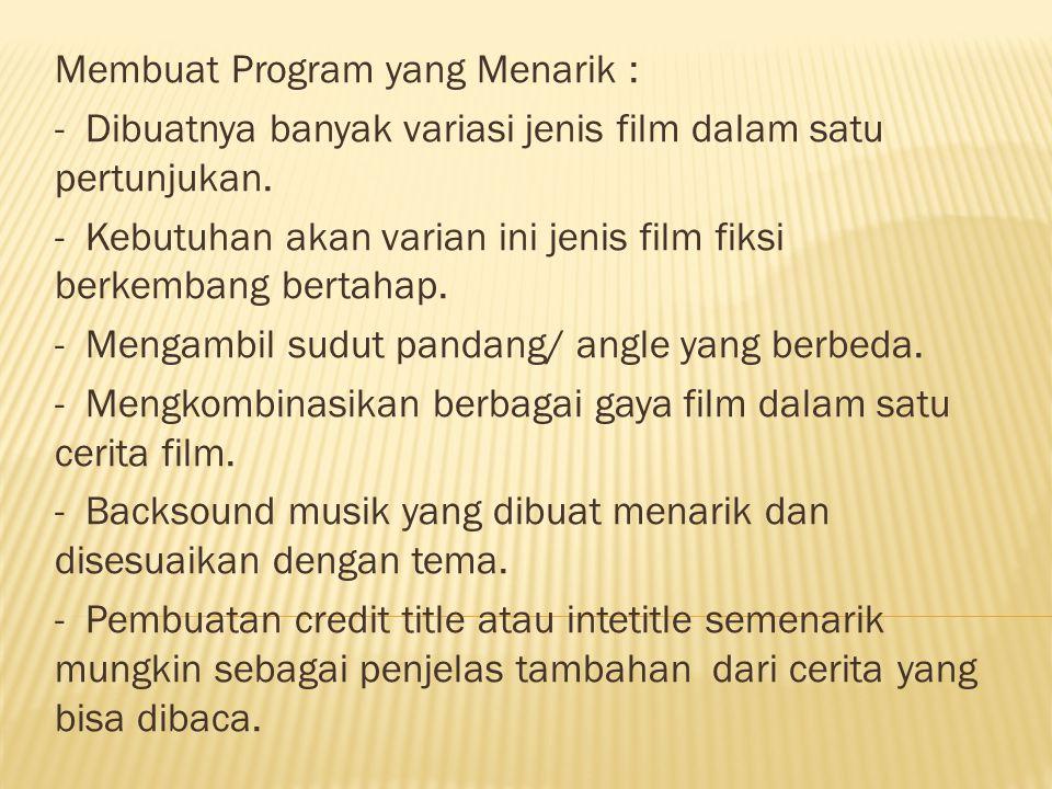 Membuat Program yang Menarik :