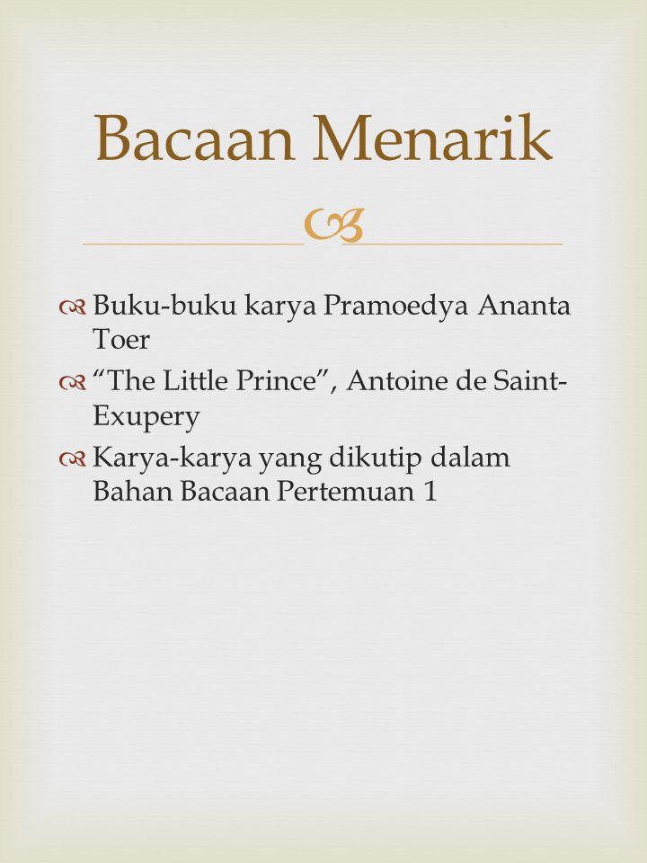 Bacaan Menarik Buku-buku karya Pramoedya Ananta Toer