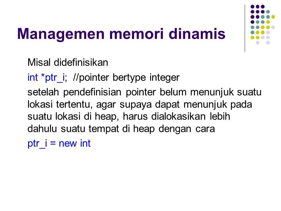 Managemen memori dinamis