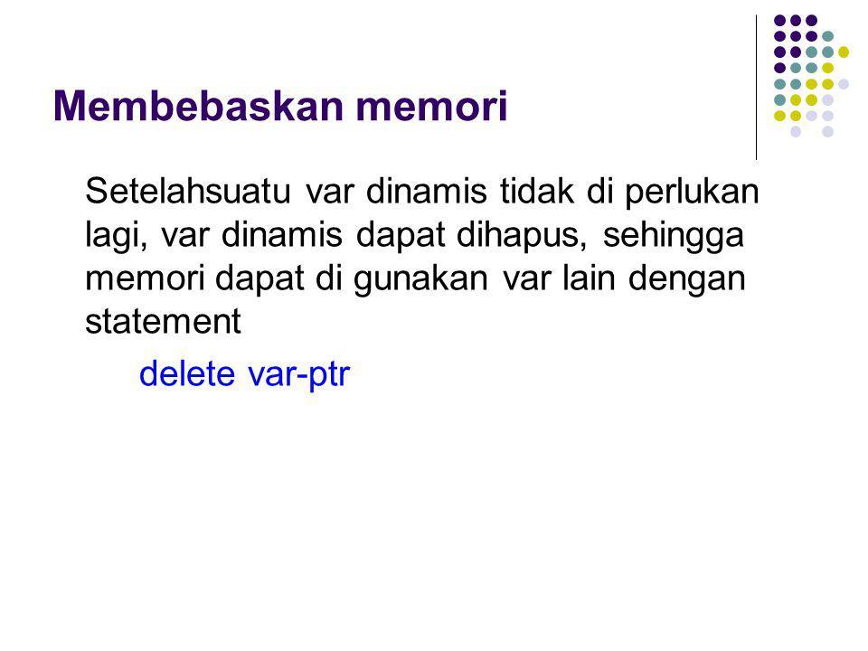 Membebaskan memori
