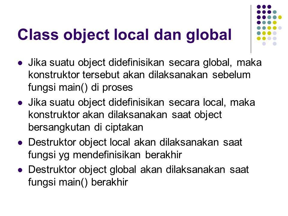 Class object local dan global