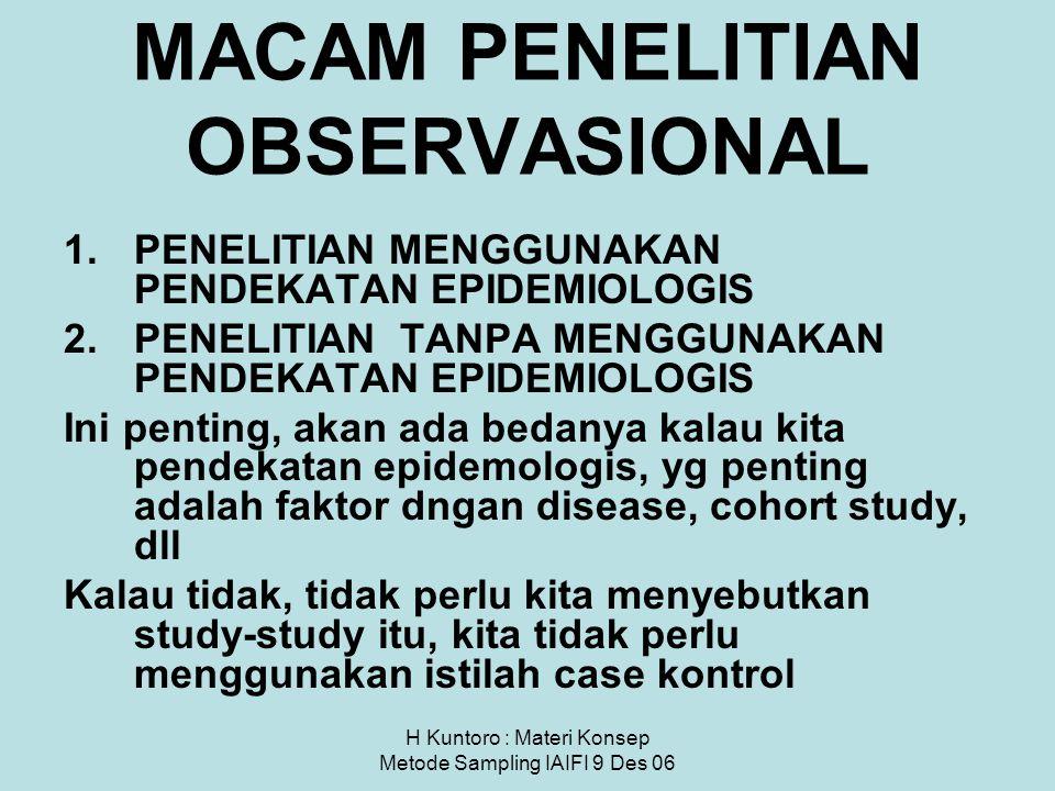 MACAM PENELITIAN OBSERVASIONAL
