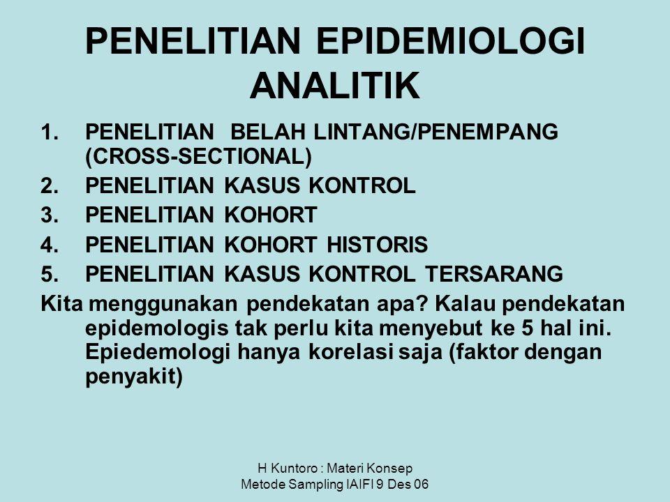 PENELITIAN EPIDEMIOLOGI ANALITIK