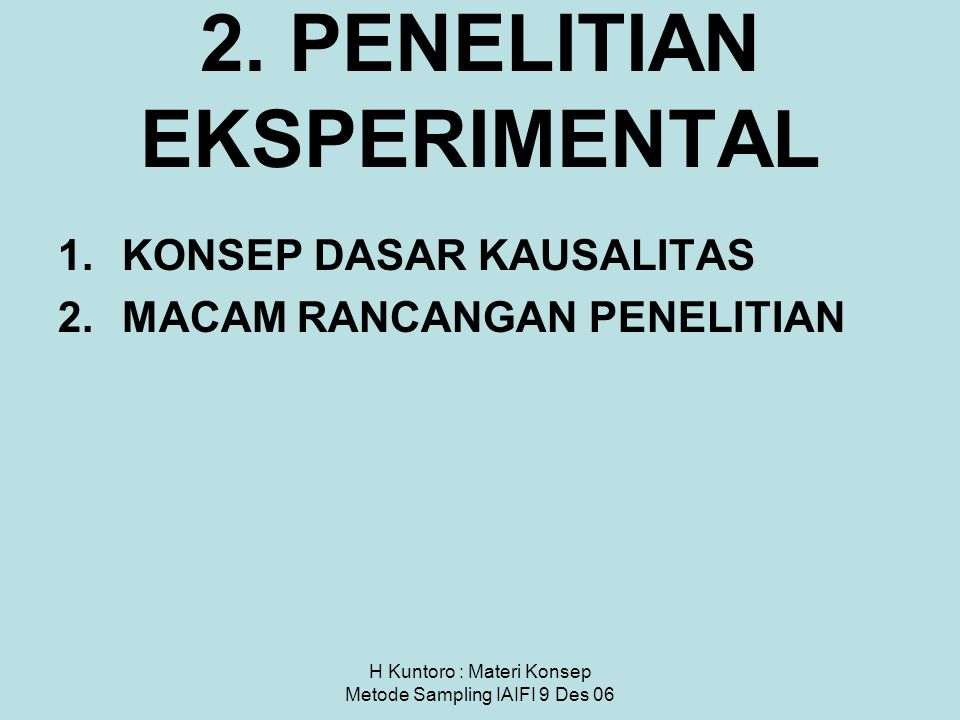 2. PENELITIAN EKSPERIMENTAL