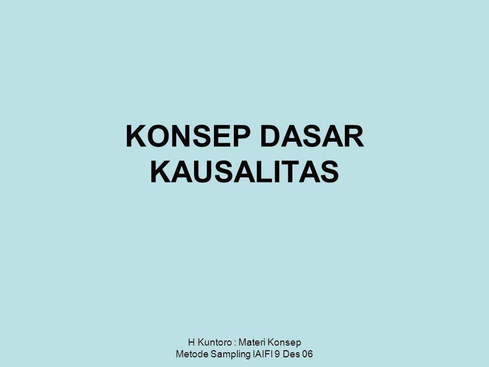 KONSEP DASAR KAUSALITAS