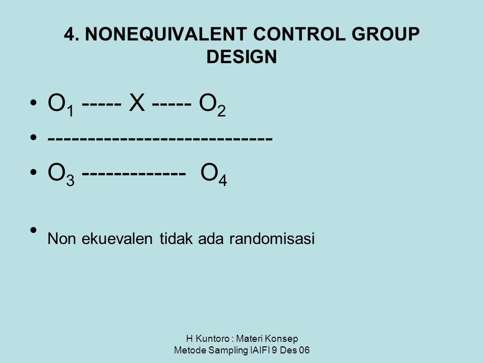 4. NONEQUIVALENT CONTROL GROUP DESIGN