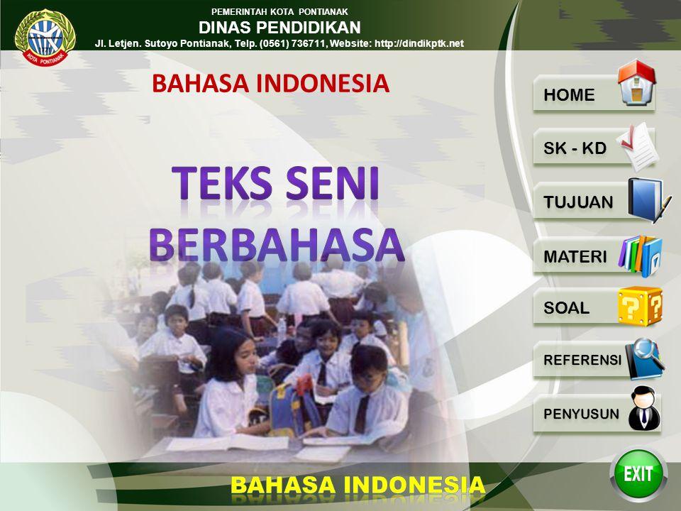 BAHASA INDONESIA TEKS SENI BERBAHASA