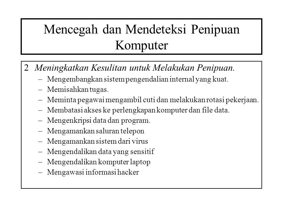 Mencegah dan Mendeteksi Penipuan Komputer