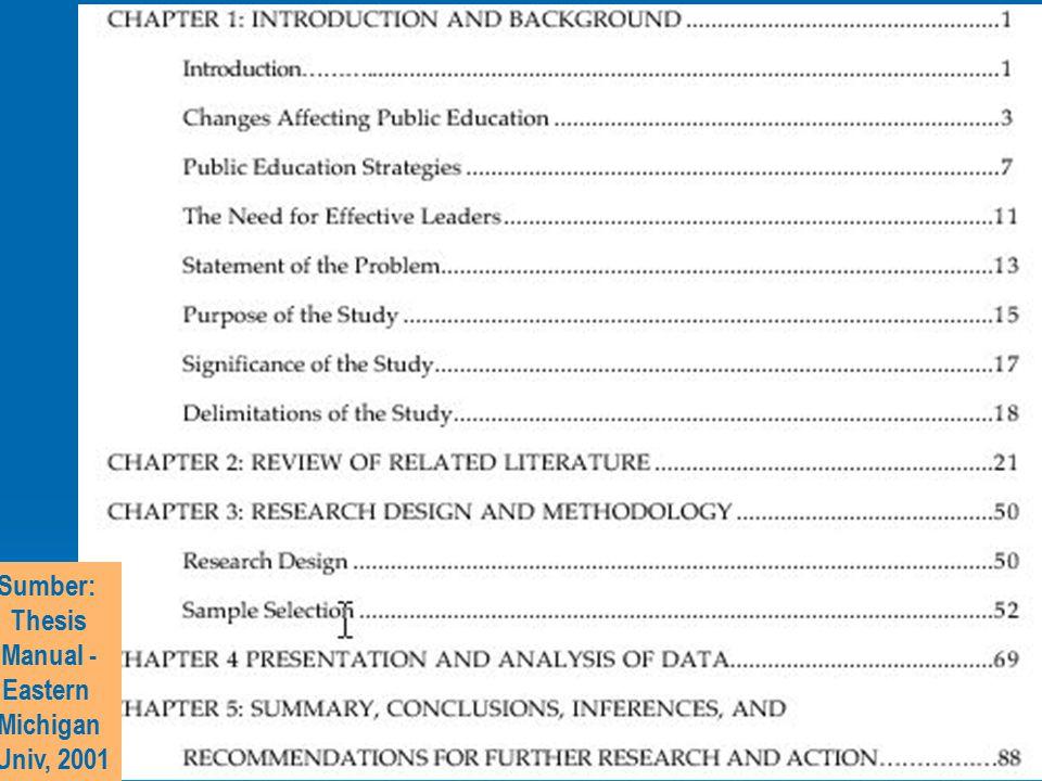 Sumber: Thesis Manual - Eastern Michigan Univ, 2001
