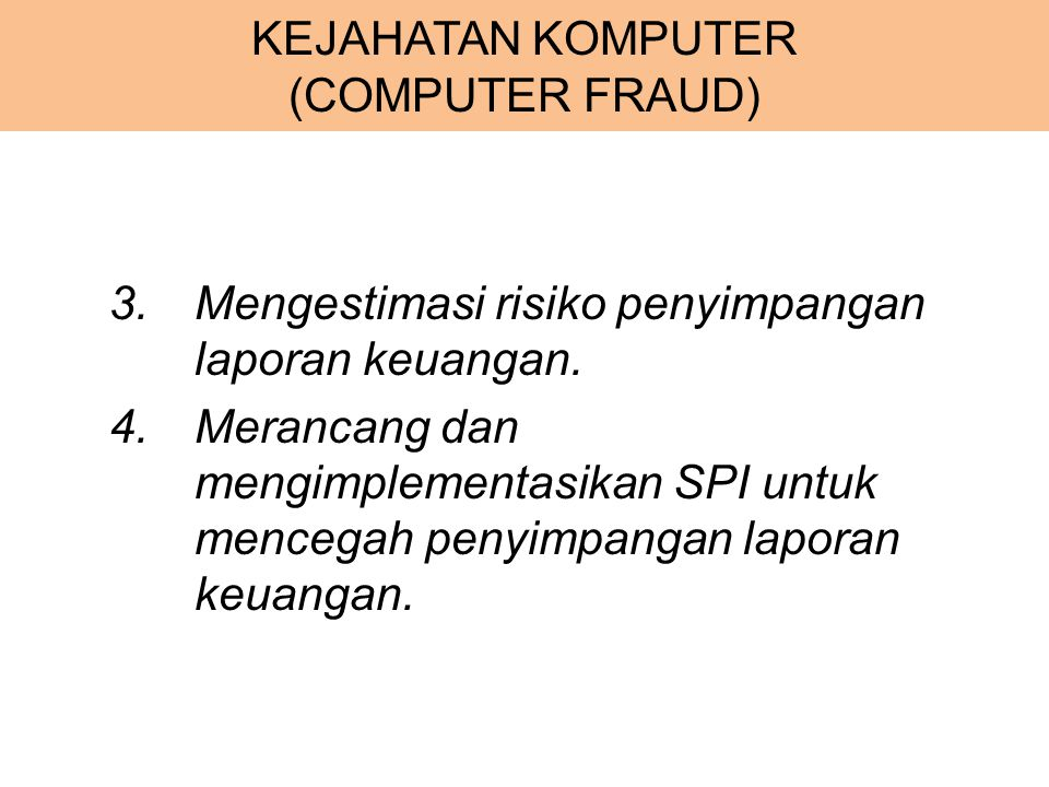 KEJAHATAN KOMPUTER (COMPUTER FRAUD)