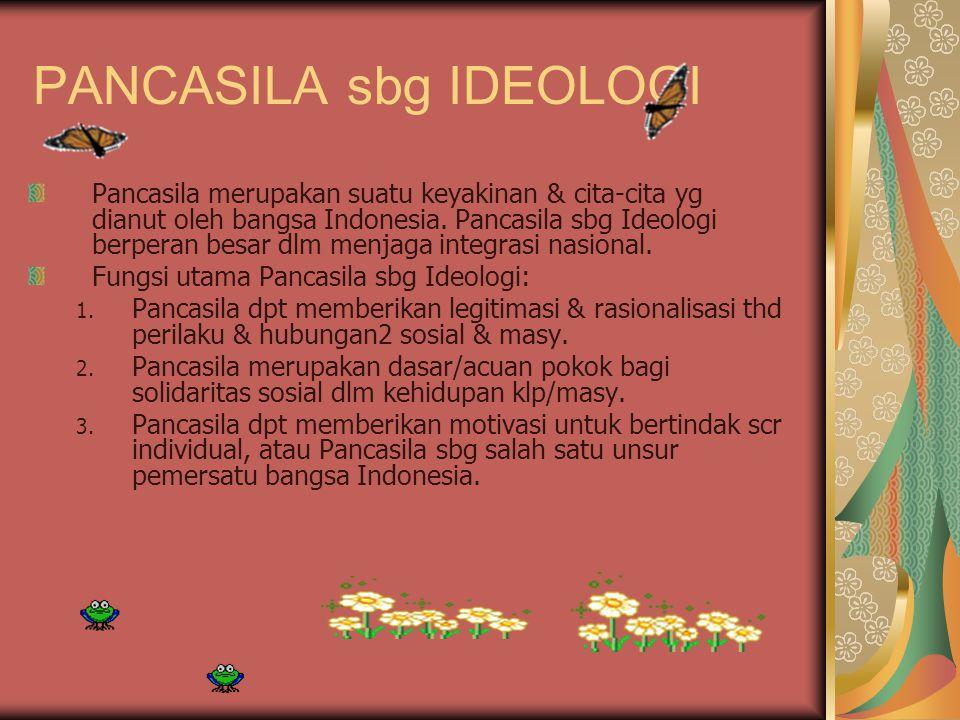 PANCASILA sbg IDEOLOGI