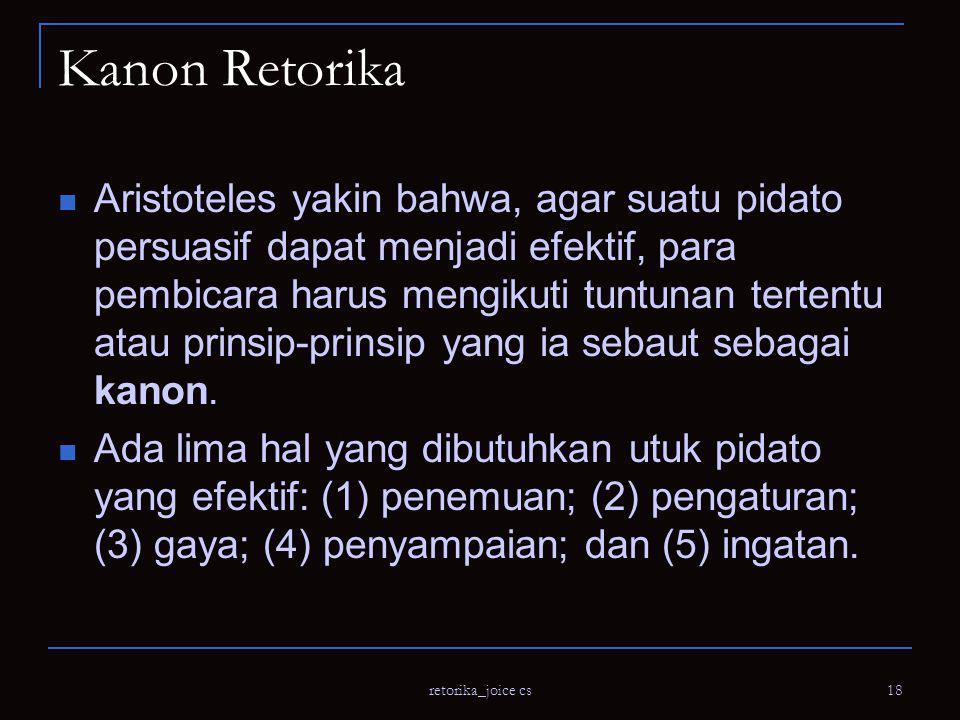 Kanon Retorika