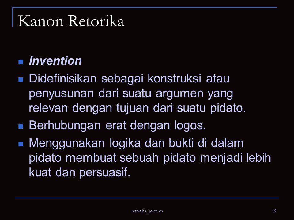 Kanon Retorika Invention