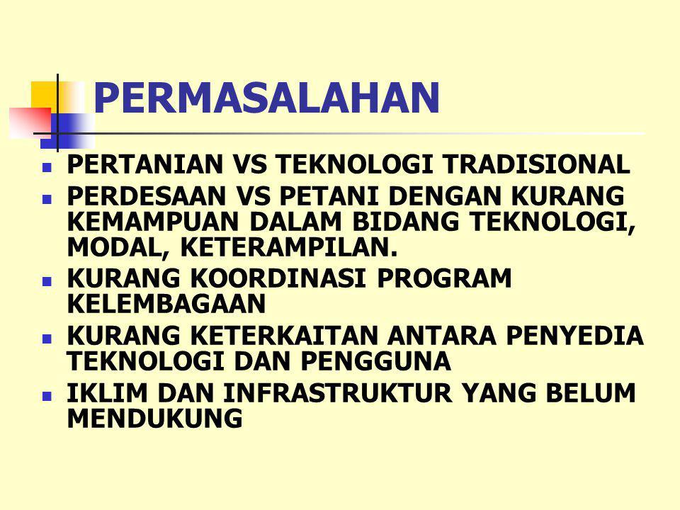 PERMASALAHAN PERTANIAN VS TEKNOLOGI TRADISIONAL