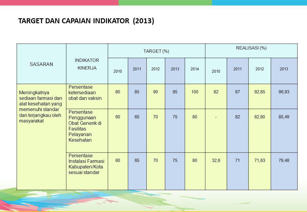 TARGET DAN CAPAIAN INDIKATOR (2013)