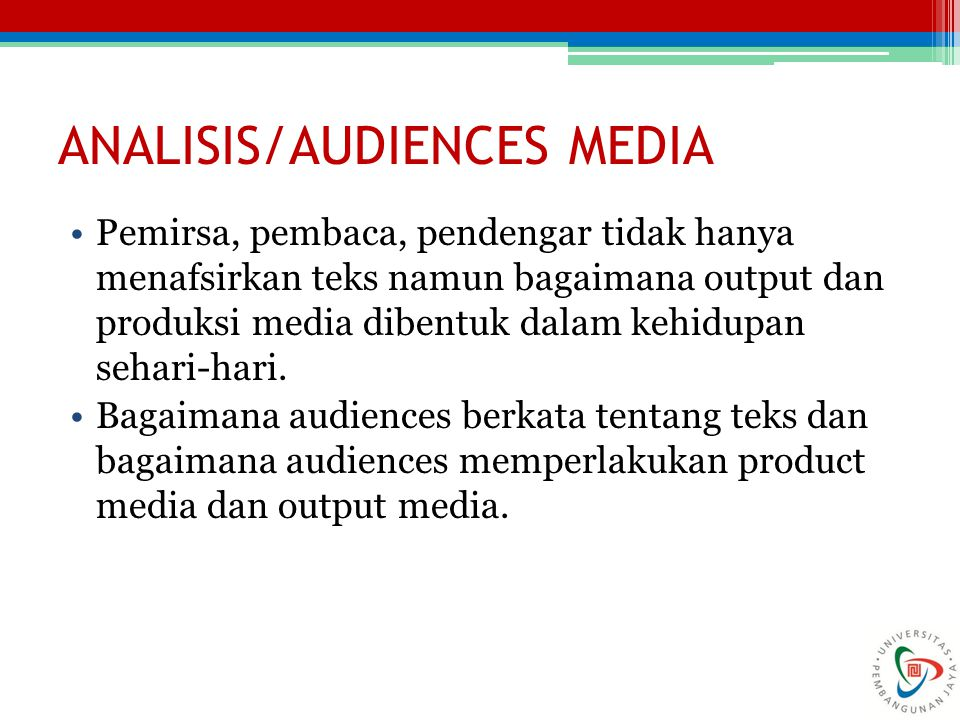 ANALISIS/AUDIENCES MEDIA