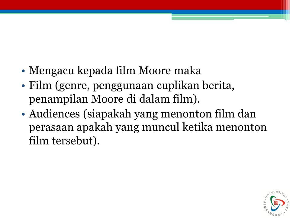 Mengacu kepada film Moore maka
