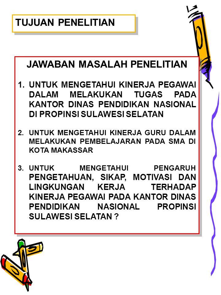 JAWABAN MASALAH PENELITIAN