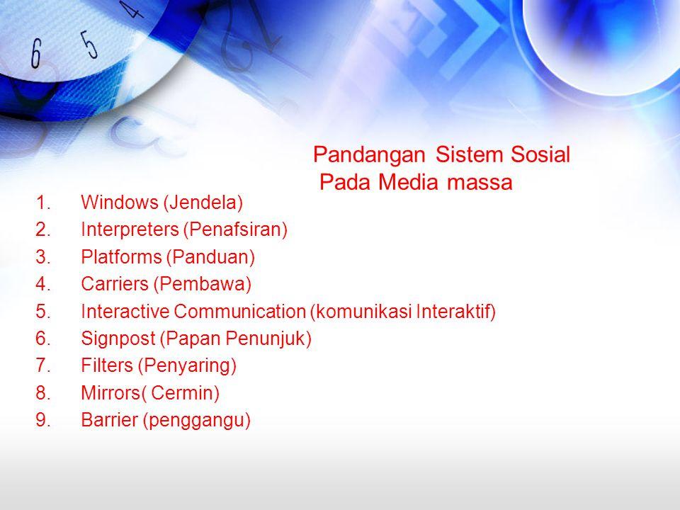 Pandangan Sistem Sosial Pada Media massa