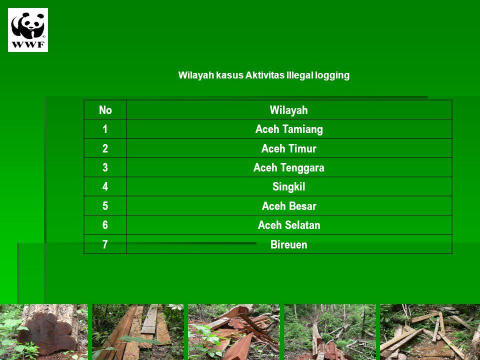 Wilayah kasus Aktivitas Illegal logging
