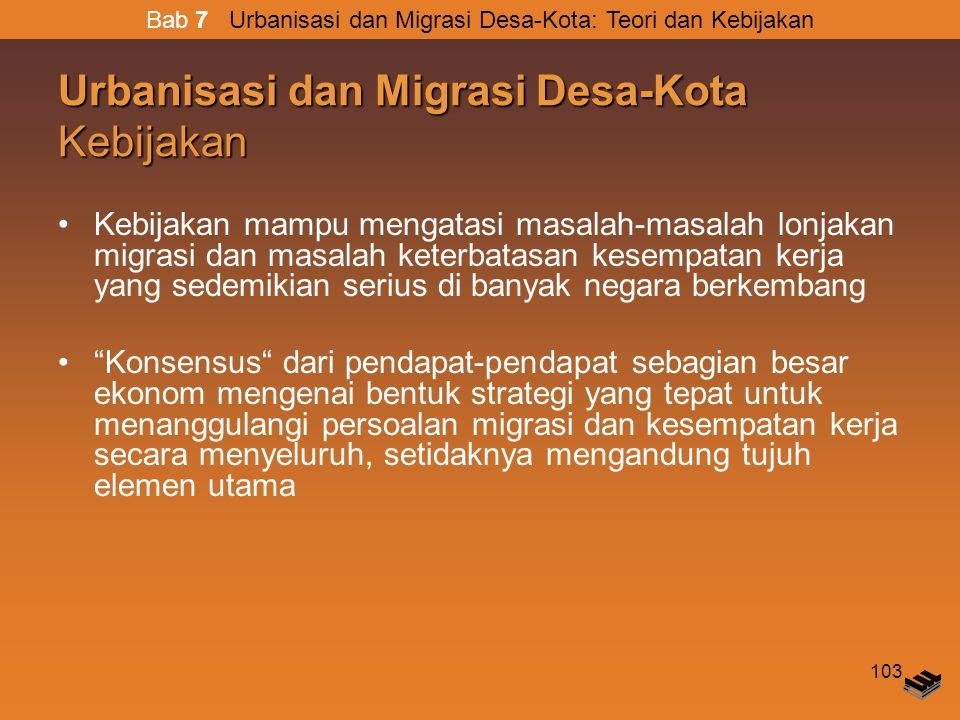 Urbanisasi dan Migrasi Desa-Kota Kebijakan