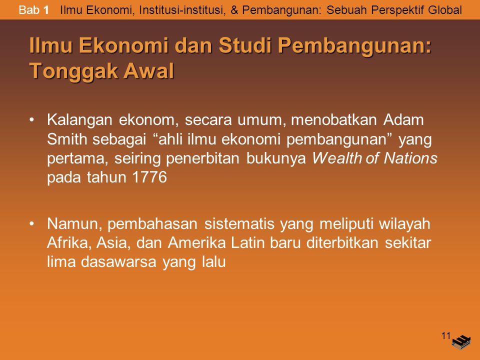 Ilmu Ekonomi dan Studi Pembangunan: Tonggak Awal