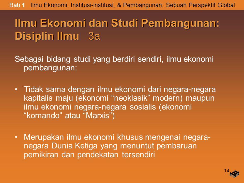 Ilmu Ekonomi dan Studi Pembangunan: Disiplin Ilmu 3a