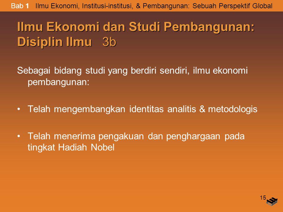 Ilmu Ekonomi dan Studi Pembangunan: Disiplin Ilmu 3b