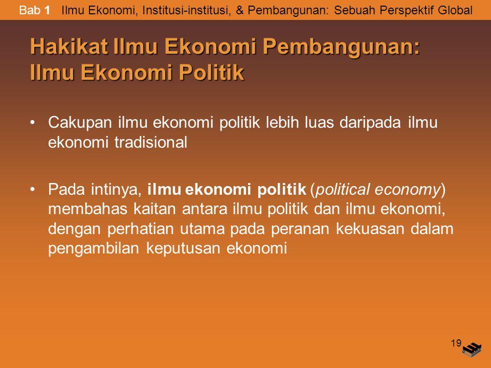 Hakikat Ilmu Ekonomi Pembangunan: Ilmu Ekonomi Politik