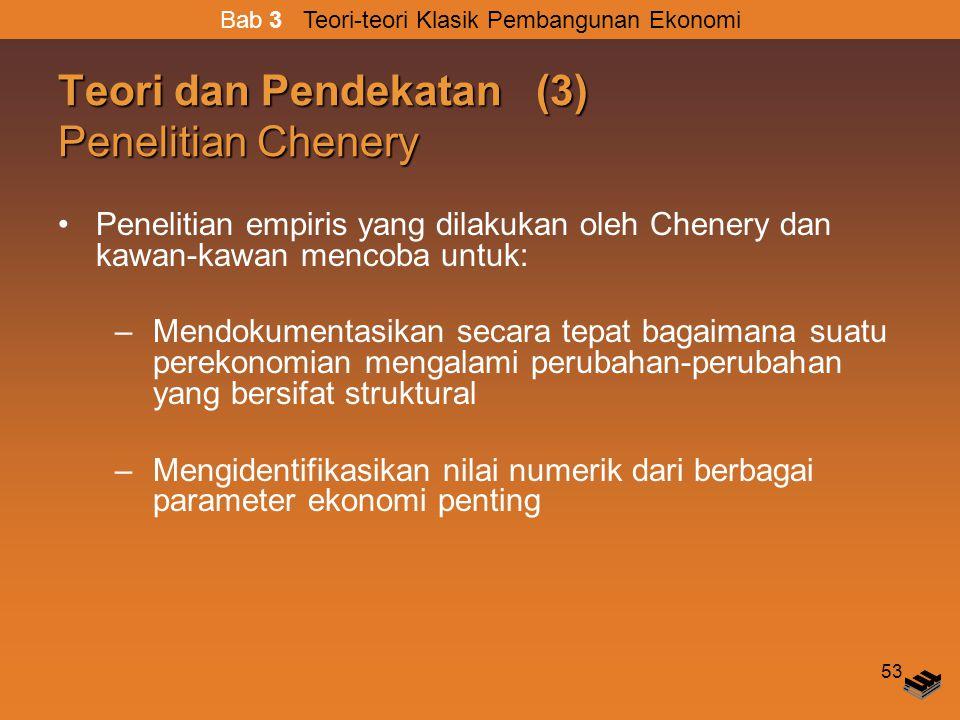 Teori dan Pendekatan (3) Penelitian Chenery