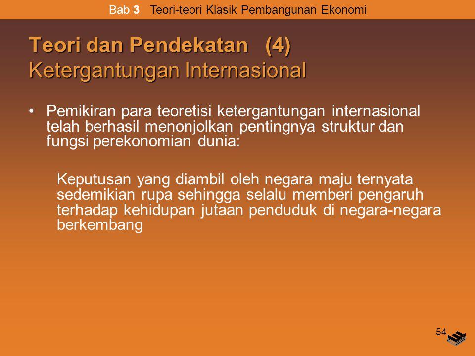 Teori dan Pendekatan (4) Ketergantungan Internasional
