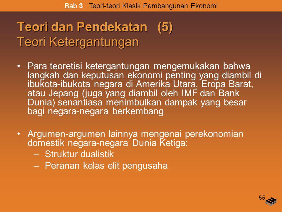 Teori dan Pendekatan (5) Teori Ketergantungan