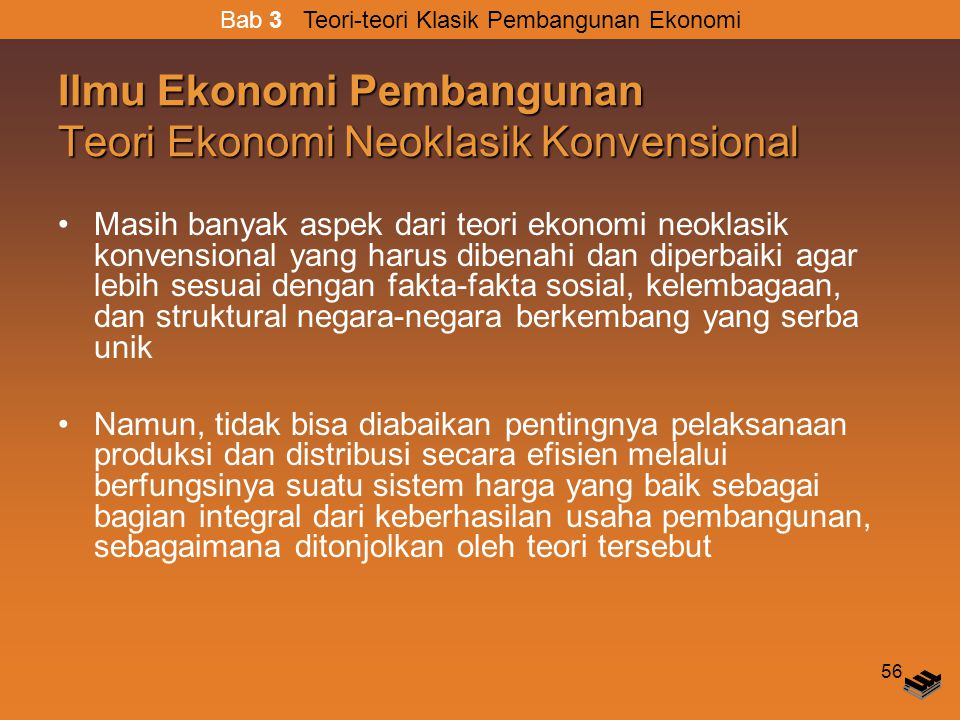 Ilmu Ekonomi Pembangunan Teori Ekonomi Neoklasik Konvensional
