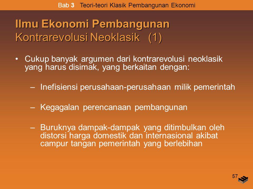 Ilmu Ekonomi Pembangunan Kontrarevolusi Neoklasik (1)