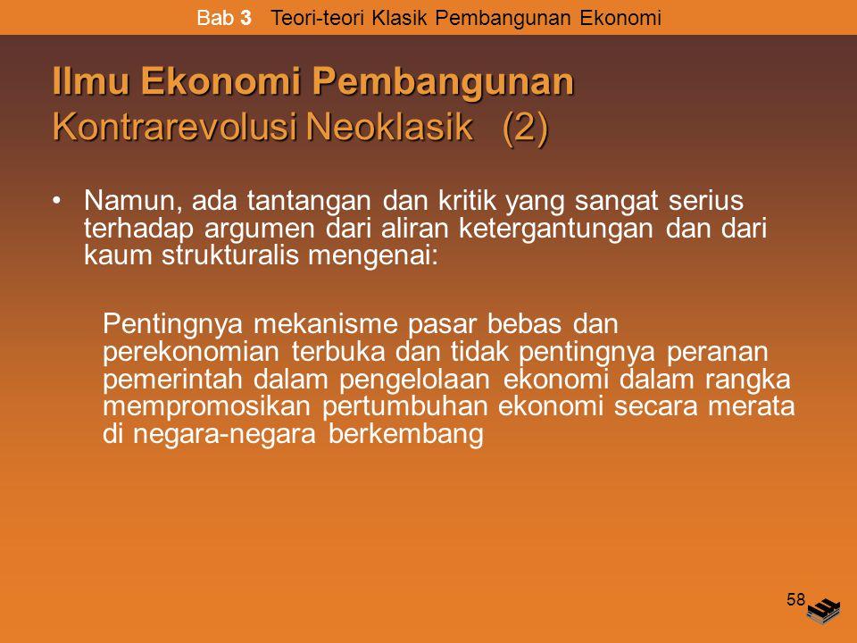 Ilmu Ekonomi Pembangunan Kontrarevolusi Neoklasik (2)