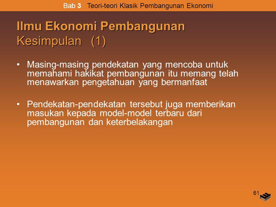 Ilmu Ekonomi Pembangunan Kesimpulan (1)