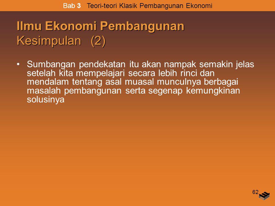 Ilmu Ekonomi Pembangunan Kesimpulan (2)
