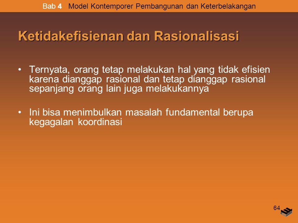 Ketidakefisienan dan Rasionalisasi