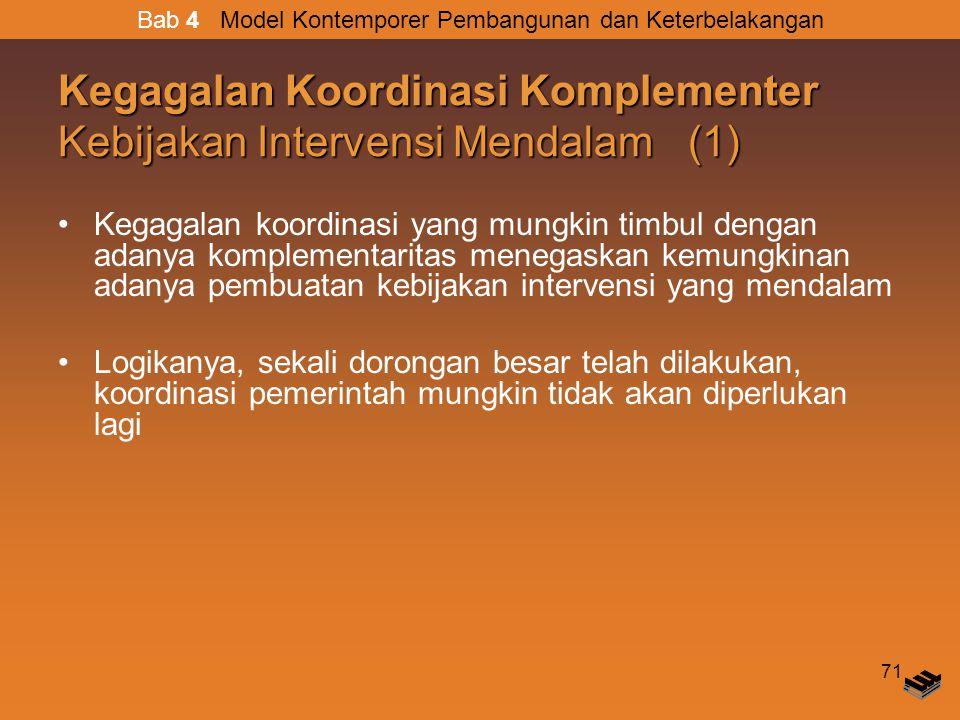 Kegagalan Koordinasi Komplementer Kebijakan Intervensi Mendalam (1)