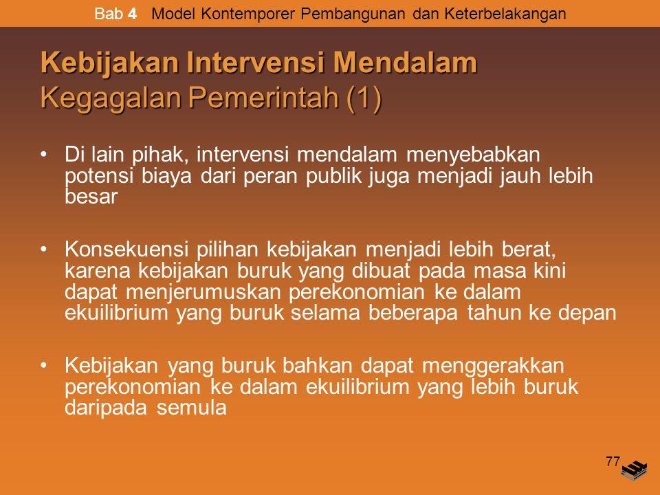 Kebijakan Intervensi Mendalam Kegagalan Pemerintah (1)
