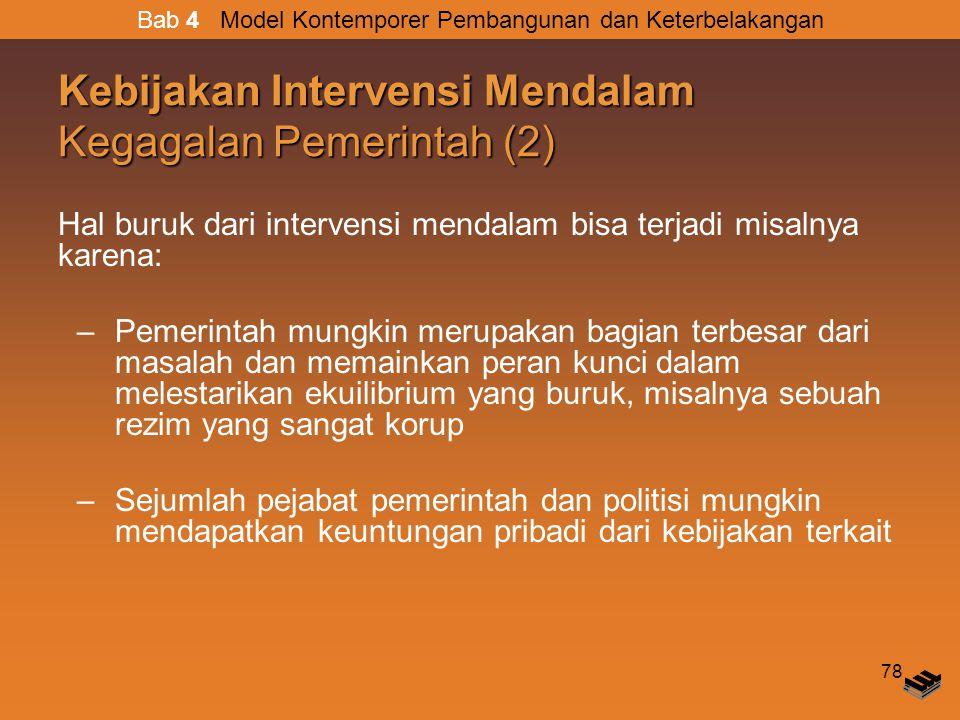 Kebijakan Intervensi Mendalam Kegagalan Pemerintah (2)