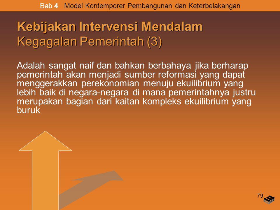 Kebijakan Intervensi Mendalam Kegagalan Pemerintah (3)