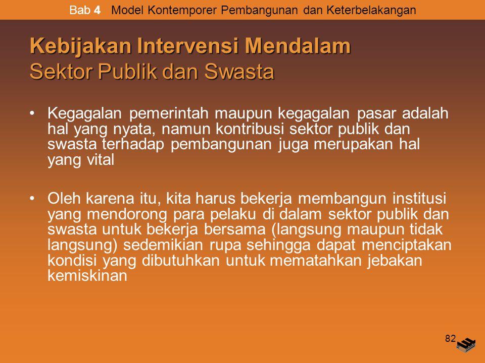 Kebijakan Intervensi Mendalam Sektor Publik dan Swasta