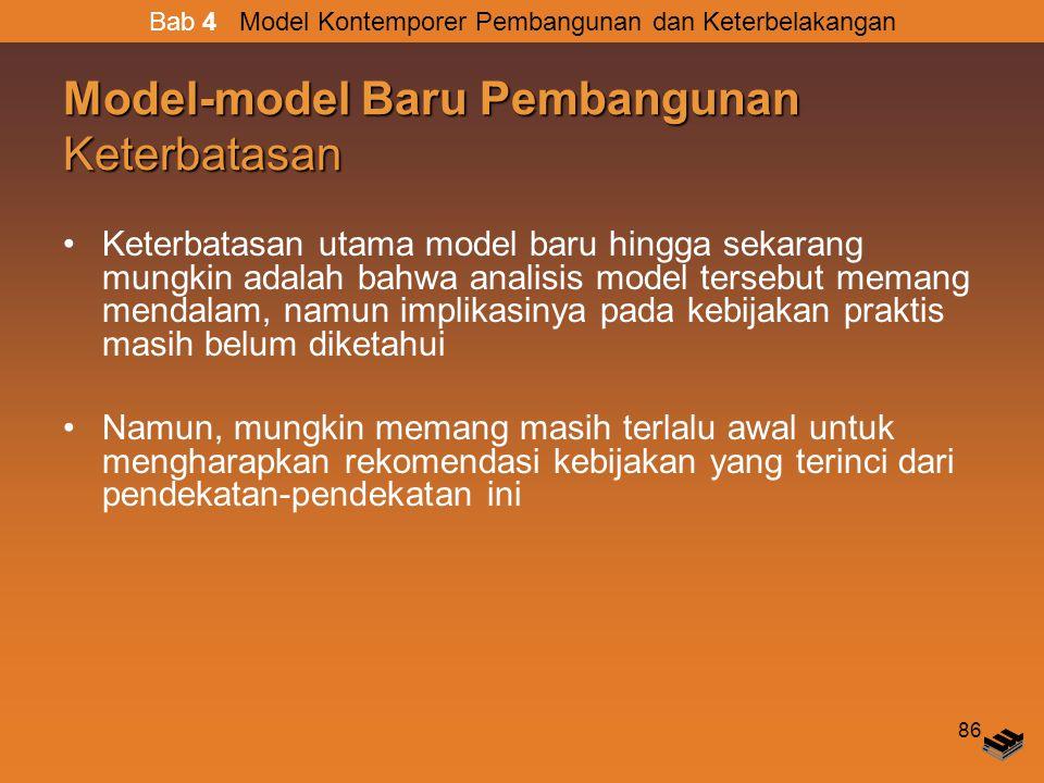 Model-model Baru Pembangunan Keterbatasan
