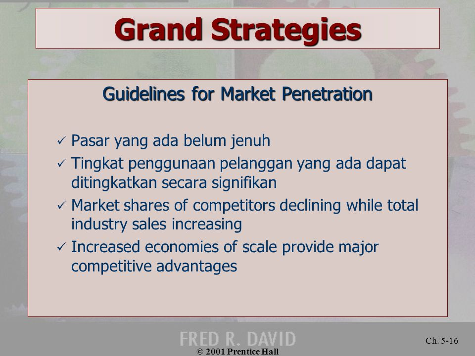 Guidelines for Market Penetration